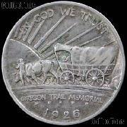 Oregon Trail Memorial Silver Commemorative Half Dollar (1926-1939) in XF+ Condition