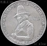 Pilgrims Landing at Plymouth Tercentenary Silver Commemorative Half Dollar (1920-1921) in XF+ Condition