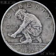 California Diamond Jubilee Silver Commemorative Half Dollar (1925) in XF+ Condition