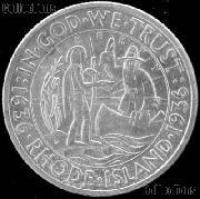 Providence Rhode Island Tercentenary Silver Commemorative Half Dollar (1936) in XF+ Condition