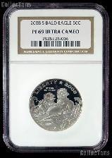 2008-S Bald Eagle Commemorative PROOF Clad Half Dollar Coin in NGC PF 69 UCAM