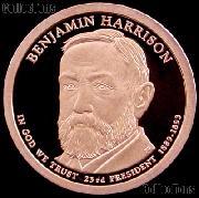 2012-S Benjamin Harrison Presidential Dollar GEM PROOF Coin