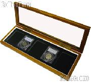 Glass Top Wooden Box for 5 Slab Holders