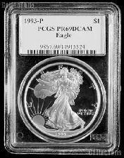 1993-P American Silver Eagle Dollar PROOF in PCGS PR 69 DCAM