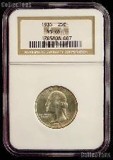 1935 Washington Silver Quarter in NGC MS 65