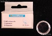 10 Lighthouse Coin Capsules for 21mm Coins (5 Guilder-Cents)