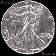 1942 Walking Liberty Silver Half Dollar * Choice BU 1942 Walker