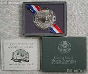 1991-P Mount Rushmore Golden Anniversary Commemorative Uncirculated Silver Dollar