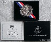 1994-D World Cup USA Commemorative Uncirculated Silver Dollar