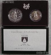 1989-D Congressional Bicentennial Commemorative Uncirculated 2 Coin Set Silver Dollar & Half Dollar