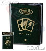4 Pocket Page Album for Trading and Gaming Cards - Green by MAX Protection