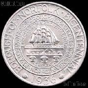 Norfolk Virginia Bicentennial Silver Commemorative Half Dollar (1936) in XF+ Condition