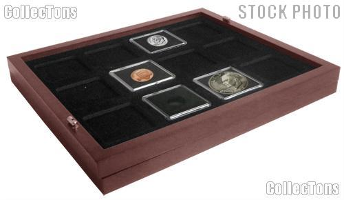 Coin Tray for 12 2x2 Coin Holders (Tetra) fits in Mahogany Wood Coin Display