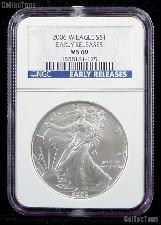 2006-W American Silver Eagle Dollar Burnished EARLY RELEASES in NGC MS 69