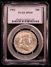 1953 Franklin Silver Half Dollar in PCGS MS 64