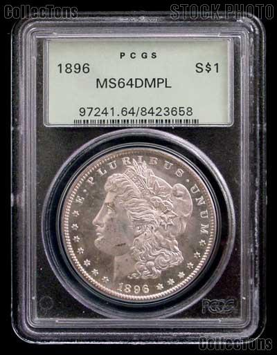 1896 Morgan Silver Dollar In Pcgs Ms 64 Dmpl Deep Mirror