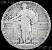 1917-D Standing Liberty Silver Quarter Variety 1 Circulated Coin G 4 or Better