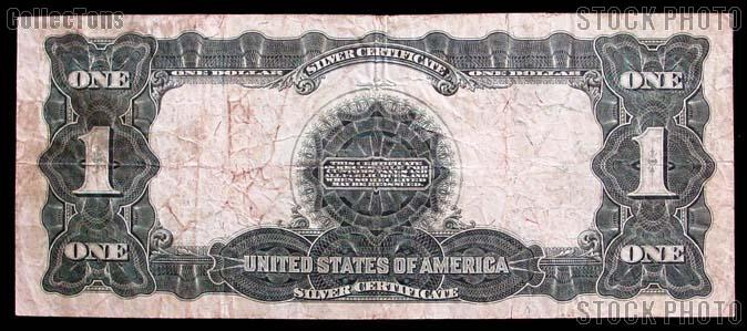 """One Dollar Bill Silver Certificate """"Black Eagle"""" Large Size Series 1899 US Currency Good or Better"""