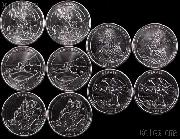 2012 National Park Quarters Complete Set P & D Uncirculated (10 Coins) PR, NM, ME, HI, AK
