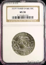 2008-S Bald Eagle Commemorative Uncirculated Half Dollar in NGC MS 70