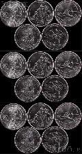 2012 National Park Quarters Complete Set P & D & S Uncirculated (15 Coins) PR, NM, ME, HI, AK