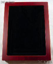 Glass Top Wooden Coin Display Case (Box) for Extra Large Certified Slab Coins NGC or ANACS by Lighthouse