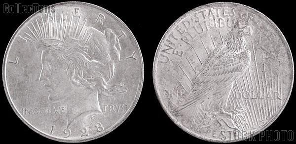 Peace Silver Dollar One Coin VG+ Condition