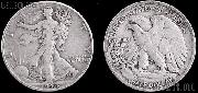 Walking Liberty  Silver Half Dollars One ROLL 20 Coin Lot G+ Condition