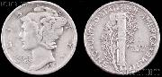 Mercury Silver Dime One Coin G+ Condition