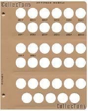 Dansco Update Page #5 for Jefferson Nickels Album #7113