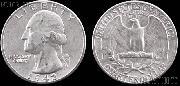Washington Silver Quarter (1932-1964) One Coin G+ Condition