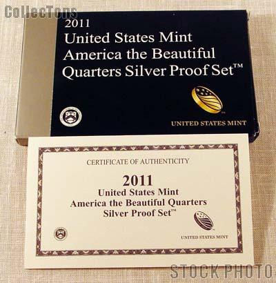 2011 SILVER QUARTER PROOF SET OGP Replacement Box and COA
