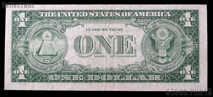 One Dollar Bill Silver Certificate STAR NOTE with MOTTO Series 1935 US Currency Good or Better