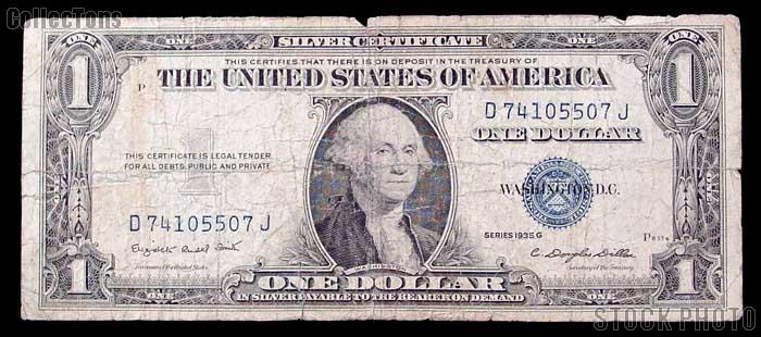 Silver certificate one dollar bill series 1935 b : 1500 bc movie