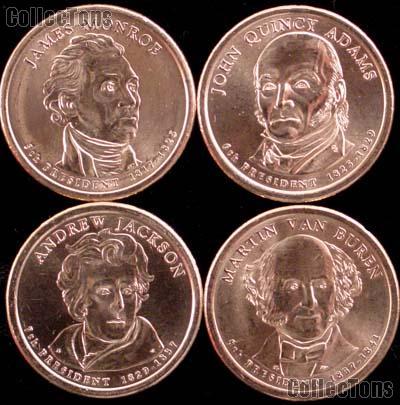 2008-P Presidential Dollar Set BU Full Year Set of 4 Coins from Philadelphia Mint