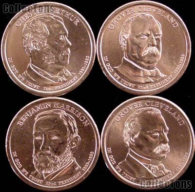 2012-P Presidential Dollar Set BU Full Year Set of 4 Coins from Philadelphia Mint