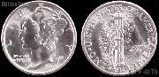 Mercury Silver Dime One Coin BU Condition