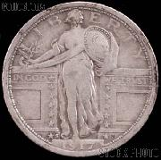1917-S Standing Liberty Silver Quarter Variety 1 Circulated Coin G 4 or Better