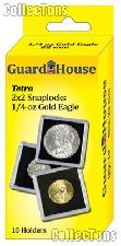 2x2 Coin Holders Box of 10 Guardhouse Tetra Snaplocks for 1/4 oz GOLD EAGLES