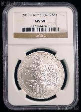 2010-P Boy Scouts Commemorative Uncirculated Silver Dollar in NGC MS 69