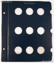 Blank Album Page for Small Dollars for Whitman Classic Coin Albums