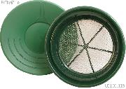 """14"""" Gold Pan & 1/4"""" Gold Sifter Set - Equipment for Prospecting"""