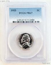 1953 Jefferson Nickel PROOF in PCGS PR 67