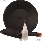 """10"""" Gold Pan, Glass Vial, Snuffer Bottle, & Trowel Set - Equipment for Prospecting"""