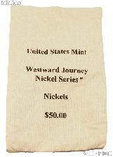 Official US Mint $50 Westward Journey NICKEL Series Canvas Money / Coin Bag