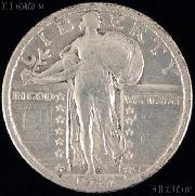 1917-D Standing Liberty Silver Quarter Variety 2 Circulated Coin G 4 or Better