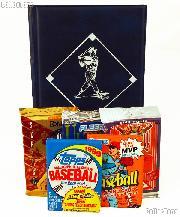 Baseball Card Collecting Starter Set / Kit MLB with 3 Baseball Card Packs & Album