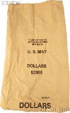 Official US Mint $2000 DOLLARS Canvas Money / Coin Bag