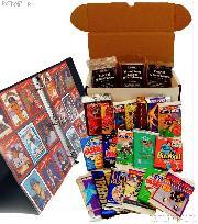 Sports Card Collecting Starter Set Kit MLB, NFL, NBA, NHL with 18 Card Packs, Sleeves, Binder & Storage Box