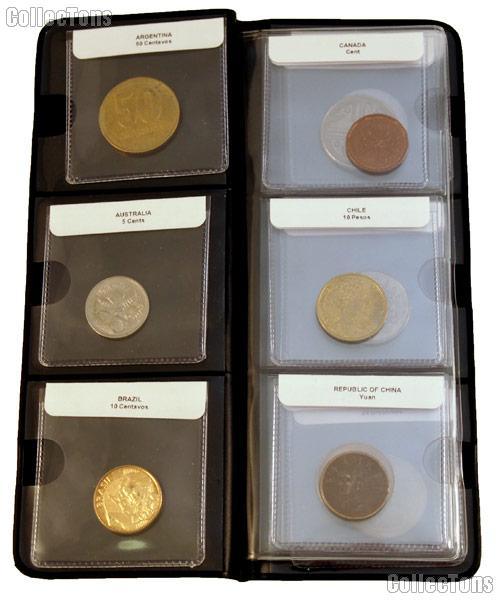 World Coin Starter Set with 12 Coins from 12 Different Countries (Set #1 A - G) in Coin Wallet
